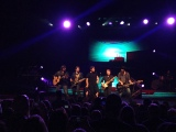 Scotty McCreery with his band at the Oakdale Theatre