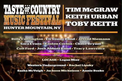 Taste of Country Lineup