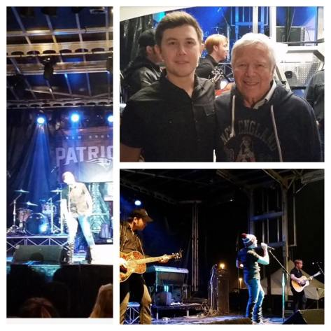 Scotty McCreery and New England Patriots Owner Robert Kraft - 1-29-15